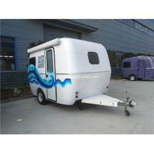Mobile camper traveling home trailer on promotion