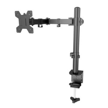 Braço de monitor LCD único ajustável e flexível de alumínio