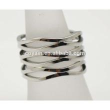 Especial hueco casting prata anel design para as mulheres