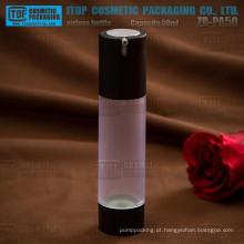 Cilindro de magro e alto boa qualidade ZB-PA50 50ml redonda imprensa loção bomba airless como material garrafa clara sem ar