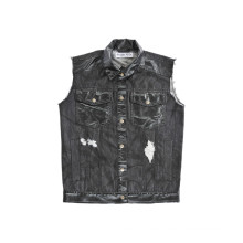Cowboy estilo de moda clásica camisa negra con cuello (d5001)