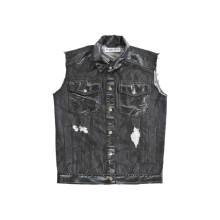Cowboy Style Fashion Classical Chemise noire avec col (D5001)