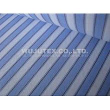 Nice soft 100% cotton yarn dyed twill weave stripe fabric 1