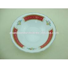 Nueva forma de la flor de la forma roja pequeños tazones de fuente de cerámica del bakeware