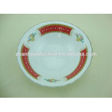 Новый стиль цветок формы красные маленькие керамические чаши для выпечки