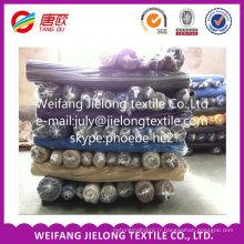 coton polyester spandex CVC en gros vêtement tissu stock
