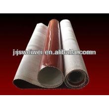 Chine tissu de verre enduit de caoutchouc de silicone d'épaisseur différente avec super largeur dans différentes couleurs