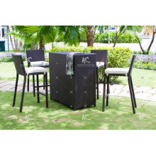 Unique Design Poly Rattan Bar Set For Outdoor Garden