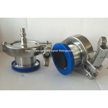 """Aço Inoxidável 316L Válvula de Controle de Vazamento de Ar Sanitário, 1 """"Tubo de Conexão Rápida"""