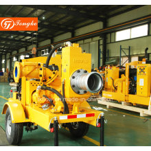 Diesel Engine Trailer Mounted Self Priming Water Pump