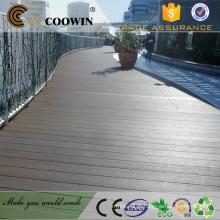 Varanda impermeável ao ar livre plástico laminado deck wpc pavimentação cobrindo