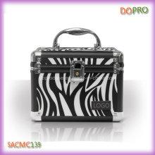 Pequeno tamanho zebra casos de metal padrão para maquiagem (scaf139)