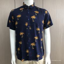 Custom men's print short sleeve shirts