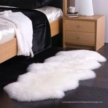 mode chevet fausse fourrure en laine de mouton tapis