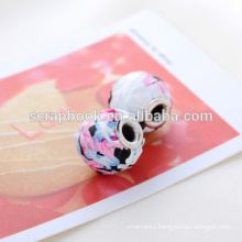 Top cosmetic beads color with decorative pattern