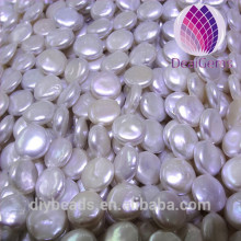 High luster AAA Grade coin shape 12--13 mm round freshwater pearl with clean surface