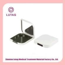 Cosméticos contenedor redondo caso plástico blush