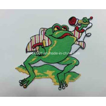 Green Frog Embroidery Label Promtion Gift Top Quality