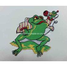 Зеленая Лягушка Метки Популяризация Подарок Высокое Качество Вышивка