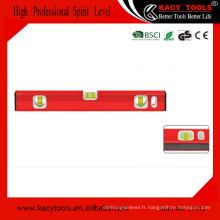 Construction en aluminium magnétique outils d'instrument de niveau acrylique 37112