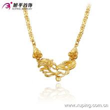 Colliers élégants plaqués or 24k avec fleur en cuivre environnemental de la mode Xuping 42711