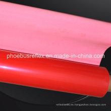Materiales reflectantes rojos Telas abiertas de Glassbeads