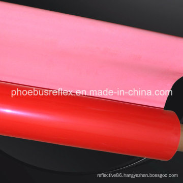 Red Reflective Materials Open Glassbeads Fabrics