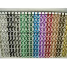Shiny Silver Chain Link Curtain Aluminum Curtain