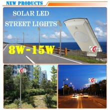 15 Watt High Lumen Outdoor All in One Solar LED Street Light Retrofit