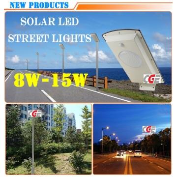 15 Вт High Lumen Outdoor Все в одном солнечном светодиодном светофоре