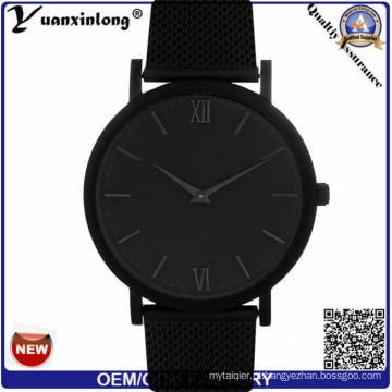 YXL-197 homens 2016 Japão movimento quartzo relógio ouro malha banda relógio luxo negócios Men′s Watch atacado