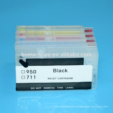 4 color refill ink cartridge for HP OfficeJet Pro 8610 8620 8630 8640 8660 8100 8600 inkjet printer for hp 950 951