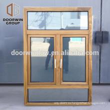 Los marcos de ventana de madera del marco francés de madera de la teca diseñan la ventana del marco para el hogar