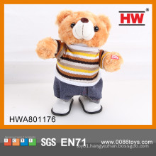 Funny stuffed toy bear electric plush bear toy