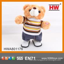 Engraçado brinquedo urso brinquedo elétrico urso de pelúcia