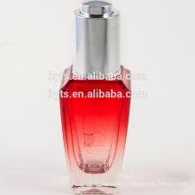 bouteille de compte-gouttes colorée de fantaisie en verre 30ml de vente chaude pour l'huile essentielle