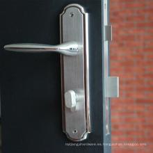 Cerradura de puerta de placa de manija de fundición de alta calidad en conjunto completo
