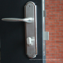 Grade 304 stainless steel door lock security door handle lock with plate
