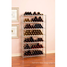 Free Standing Adjustable Commercial Iron Wine Cellar Rack, NSF Approval