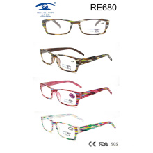 Novos produtos Óculos de leitura de plástico colorido para mulheres (RE680)