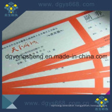 Football Ticket Printing with Serial Numbers