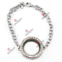 Prata rodada Locket pulseira Jewellry para a decoração do festival (LB-102)