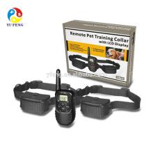 Control remoto impermeable LCD Electronic Shock Remote Collar de perro Electric Pet training collar Entrenador de mascotas con cinturón