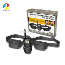 Remote control Waterproof LCD Electronic Shock Remote Dog Collar Electric Pet training collar Pet Trainer with Belt