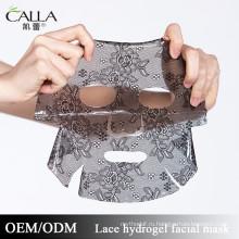 2017 горячие продажи интенсивное увлажнение кружева Гидрогель маска для лица