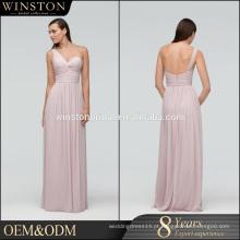 Moda profissional melhor vestido de noite de estilo greciano