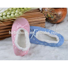 Calça deslizador casa strappy barato deslizador bailarina estilos mulheres sapatos interiores