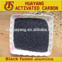 Vente chaude corindon / poudre d'oxyde d'aluminium noir à bas prix