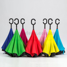 New design Hands free magic umbrella inverted upside down reverse umbrella