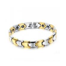 2018 nouveaux bracelets de santé magnétique en acier tungstène plaqué or rose